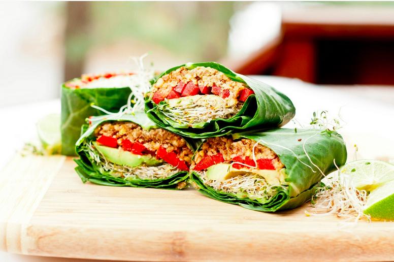 "A vegan ""wrap"". http://villalevanta.com/wp-content/uploads/2014/01/vegan.jpg"